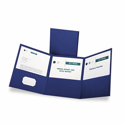 Esselte Pendaflex Corporation Oxford Tri-Fold Folder with 3 Pockets, Holds 150 Letter-Size Sheets