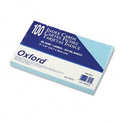 Esselte Pendaflex Corporation Oxford Unruled Index Cards, 5 X 8, 100/Pack