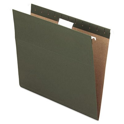 Esselte Pendaflex Corporation Essentials Hanging File Folders, 1/5 Tab, Letter, 25/Box