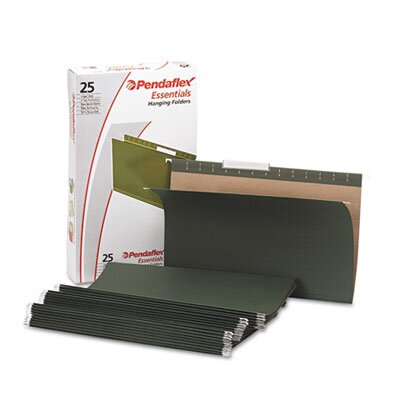 Esselte Pendaflex Corporation Essentials Hanging File Folders, 1/3 Tab, Legal, 25/Box