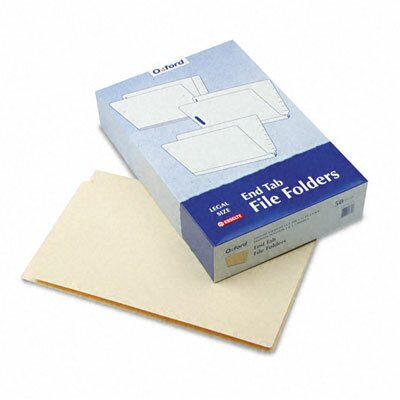 Esselte Pendaflex Corporation End Tab Expansion Fastener Folders, Two Fasteners, Legal, 50/Box