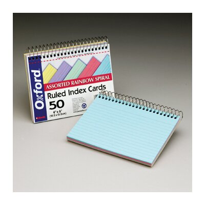 Esselte Pendaflex Corporation Oxford Spiral Index Cards 4 X 6
