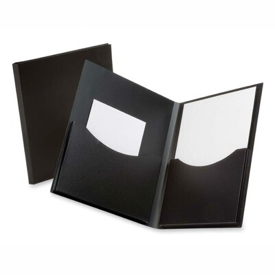 "Esselte Pendaflex Corporation Twin Pocket Folder,w/ 6"" Pockets,Holds 200 Sheets, Letter Black"