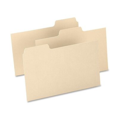 "Esselte Pendaflex Corporation Index Card Guides,Blank,15 Pt.,1/3 Cut,8""x5"",100/BCC,Buff"