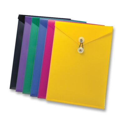 "Esselte Pendaflex Corporation View front Envelope,w/ Elastic Clsre, 9-1/2""x12-1/2"", Assorted"