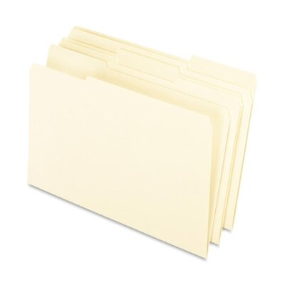 Esselte Pendaflex Corporation 1/3 Cut Tab Manila Interior Folders, 1/3 Tab Cut, Legal, Manila