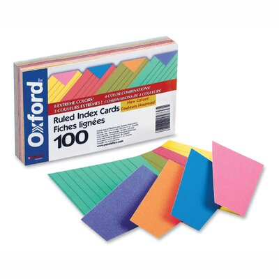 Esselte Pendaflex Corporation Index Cards, Ruled, 100 per Pack, Assorted, 3 Sizes