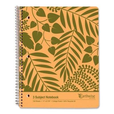 Esselte Pendaflex Corporation Envirotech 3 Subject Notebook