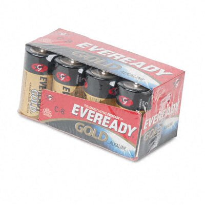 Energizer® Eveready Gold Alkaline Batteries, C, 8 Batteries/Pack