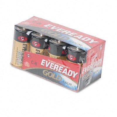 Energizer® Eveready Gold Alkaline Batteries, C, 8 Batteries/Pack