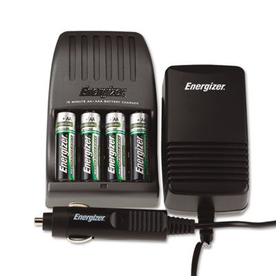 Energizer® Charger, for 4 Aa or Aaa Nimh Batteries, 15-Minute Charge Cycle