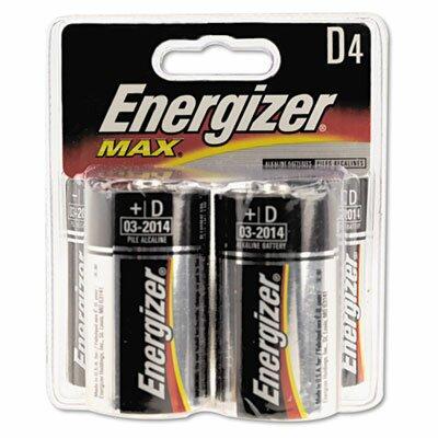 Energizer® Max Alkaline Batteries, D, 4 Batteries/Pack