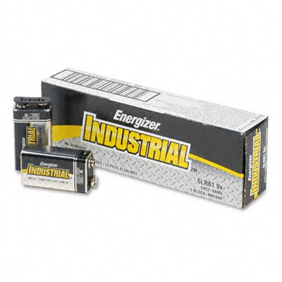 Energizer® Industrial Alkaline Batteries, 9V, 12/Box