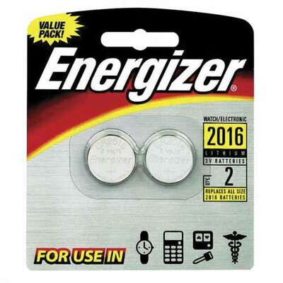 Energizer® Lithium Batteries, 3.0 Volt, For CR2016/CR2016/SBT-11/LF1/4V