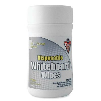 Falcon Safety Whiteboard Wipes, Disposable, 80 Wipes