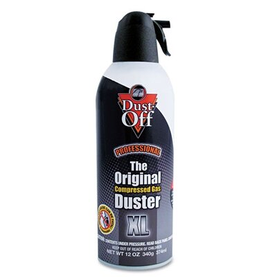 Falcon Safety Dust-Off Disposable Compressed Gas Duster, 12 Oz Can