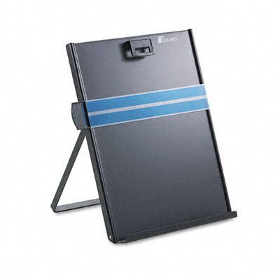 Fellowes Mfg. Co. Kopy-Aid Letter-Size Freestanding Desktop Copyholder, Stainless Steel, Black