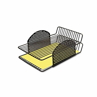 Fellowes Mfg. Co. Perf-Ect Double Letter Tray, Two Tier, Wire