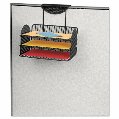 Fellowes Mfg. Co. Perf-Ect Partition Additions Three-Tray Organizer