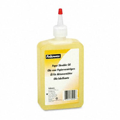 Fellowes Mfg. Co. 35250 Shredder Oil, 12 Oz. Bottle with Extension Nozzle