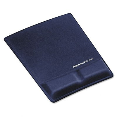 Fellowes Mfg. Co. Memory Foam Wrist Support with Attached Mouse Pad