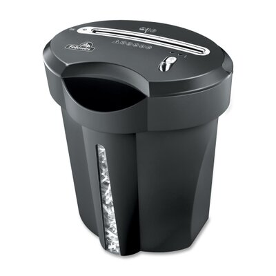 "Fellowes Mfg. Co. Shredder, Cross-Cut, 8 Sheet Cap, 16-1/2""x15""x12"", Black"