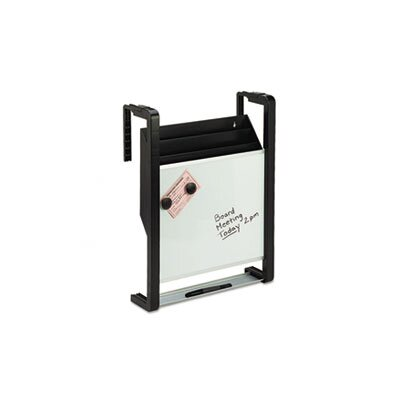 Fellowes Mfg. Co. Quartet Hanging File Pocket with Dry Erase, Letter, Three Pocket