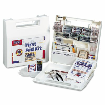 First Aid Only™ Bulk First Aid Kit for 25 People, 106 Pieces, Osha Compliant, Plastic Case