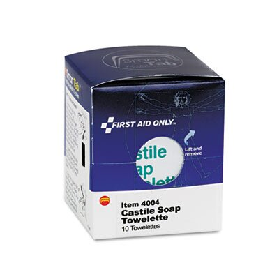 First Aid Only™ Castile Soap Towelettes, 10/Box