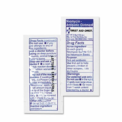 First Aid Only™ Antibiotic Ointment, 10 Packets/Box