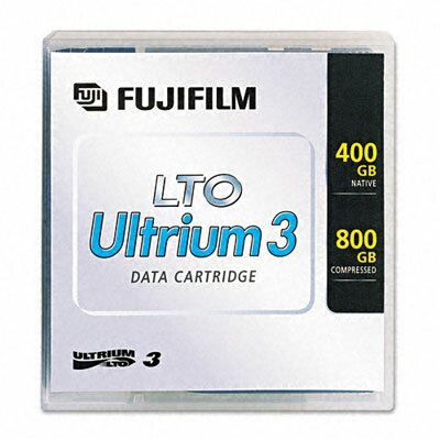 "Fuji® 1/2"" LTO-3 Data Cartridge, 2200ft, 400GB Native/800GB Compressed Data Capacity"
