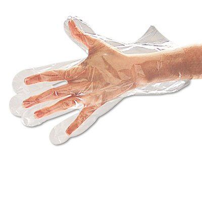 GALAXY                                             Boardwalk Polyethylene Disposable Food Handling Gloves, Large, 1000/Carton