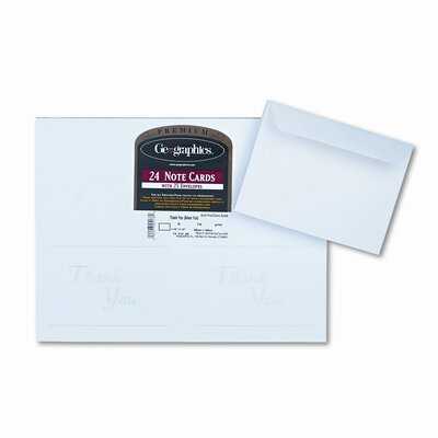 GEOGRAPHICS                                        Avery Inkjet-Compatible Greeting Cards with Envelopes, 30/Box