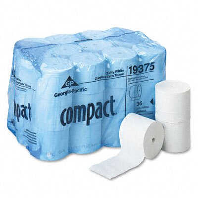 Georgia Pacific Compact Coreless Bath Tissue, 1000 Sheets/Roll, 36 Rolls/Carton