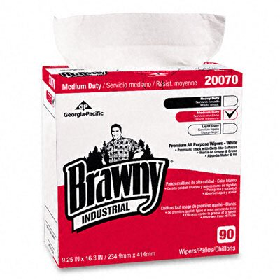 Georgia Pacific Brawny Industrial Medium-Duty Premium Wipes, 90/Box
