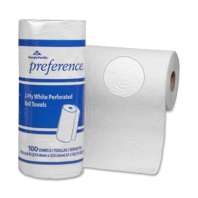 """Georgia Pacific Preference 2-Ply Roll Towels, 2-Ply, 8-13/16""""x11"""", 100 SH/RL, 30RL/CT, White"""