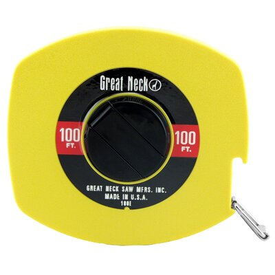 GREAT NECK 100' Steel Tape  100E