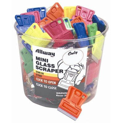 AllwayTools 100 Piece Mini Glass Scraper Bucket GSM100