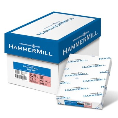"Hammermill Colored Copy Paper, 20Lb, 8-1/2""x11"", 500/RM, Cherry"