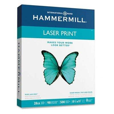 Hammermill Laser Print Office Paper, 98 Brightness, 28Lb, 500 Shts/Ream