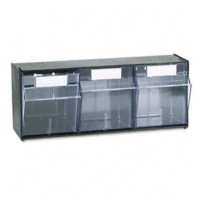 Deflect-O Corporation Tilt Bin Plastic Storage System with 3 Bins