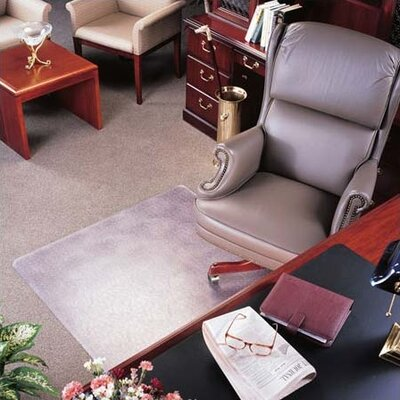 Deflect-O Corporation Classic ExecuMat High Pile Carpet Beveled Chair Mat