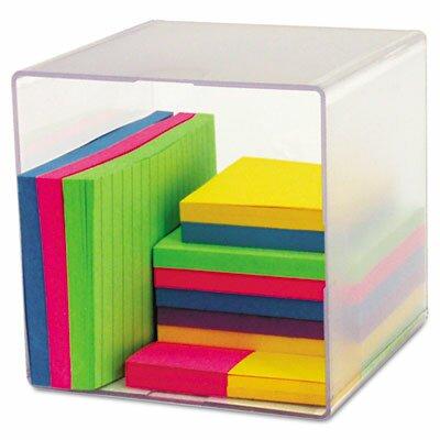 Deflect-O Corporation Desk Cube, Clear Plastic
