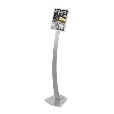 "Deflect-O Corporation Sign Stands, Holds 8-1/2""x11"", 12""x12""x56"", Silver"