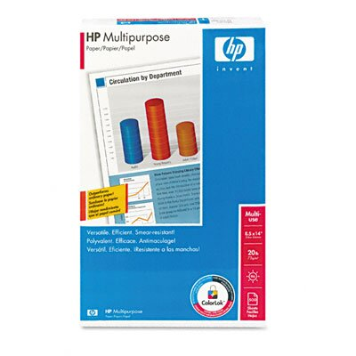 HP Multipurpose Copy/Laser/Inkjet Paper, 96 Brightness, 20lb, Legal, 500 Sheets