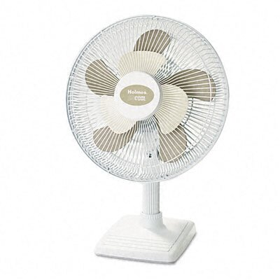 "Holmes® 2Cool 12"" Three Speed Personal Table Fan, Metal"