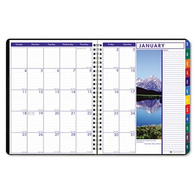 House of Doolittle Earthscapes Executive Hardcover Weekly/Monthly Planner, 8-1/2 x 11, Black, 2013