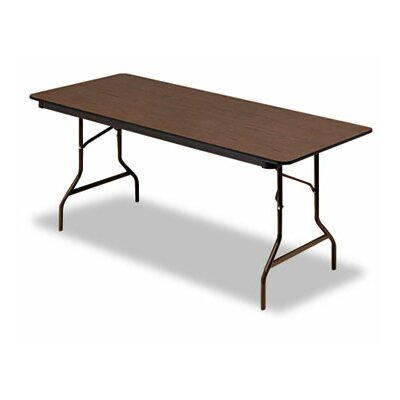 "Iceberg Enterprises Iceberg Economy Wood Laminate 72"" Rectangular Folding Table"