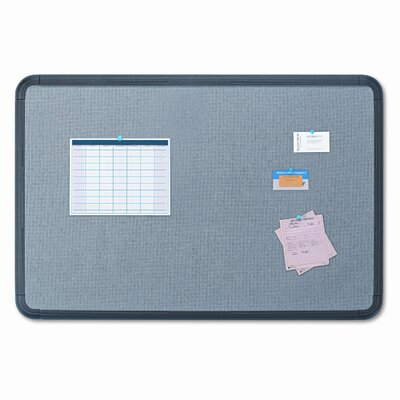 Iceberg Enterprises Gray with Black Polyethylene Frame Fabric 3' x 4' Bulletin Board