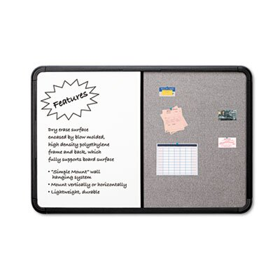 Iceberg Enterprises Ingenuity Combo Dry Erase/Fabric 3' x 4' Whiteboard and Bulletin Board